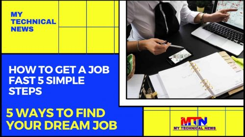 How To Get A Job Fast 5 Simple Steps.