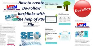 How to create Do-Follow backlinks with the help of PDF FILE? | MY TECHNICAL NEWS
