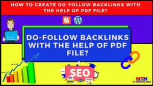 How To Create Do-Follow Backlinks With The Help Of PDF FILE?