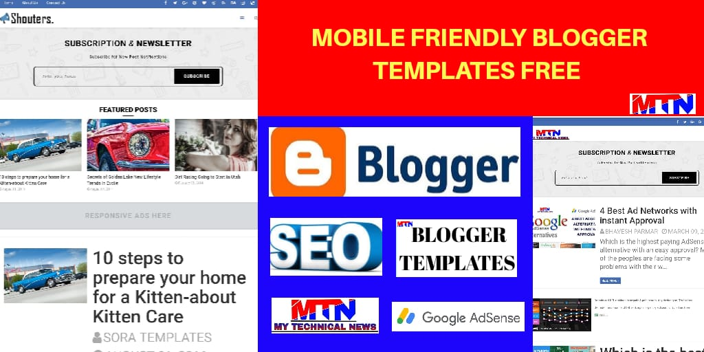 Mobile Friendly blogger templates free download
