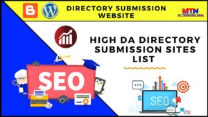 Top 50 High DA Directory Submission Sites List