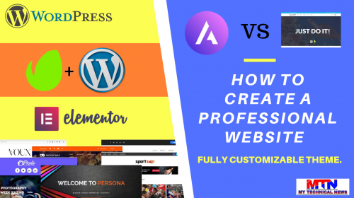 Easy Way To Create A Professional Website With A Fully Customizable Theme.