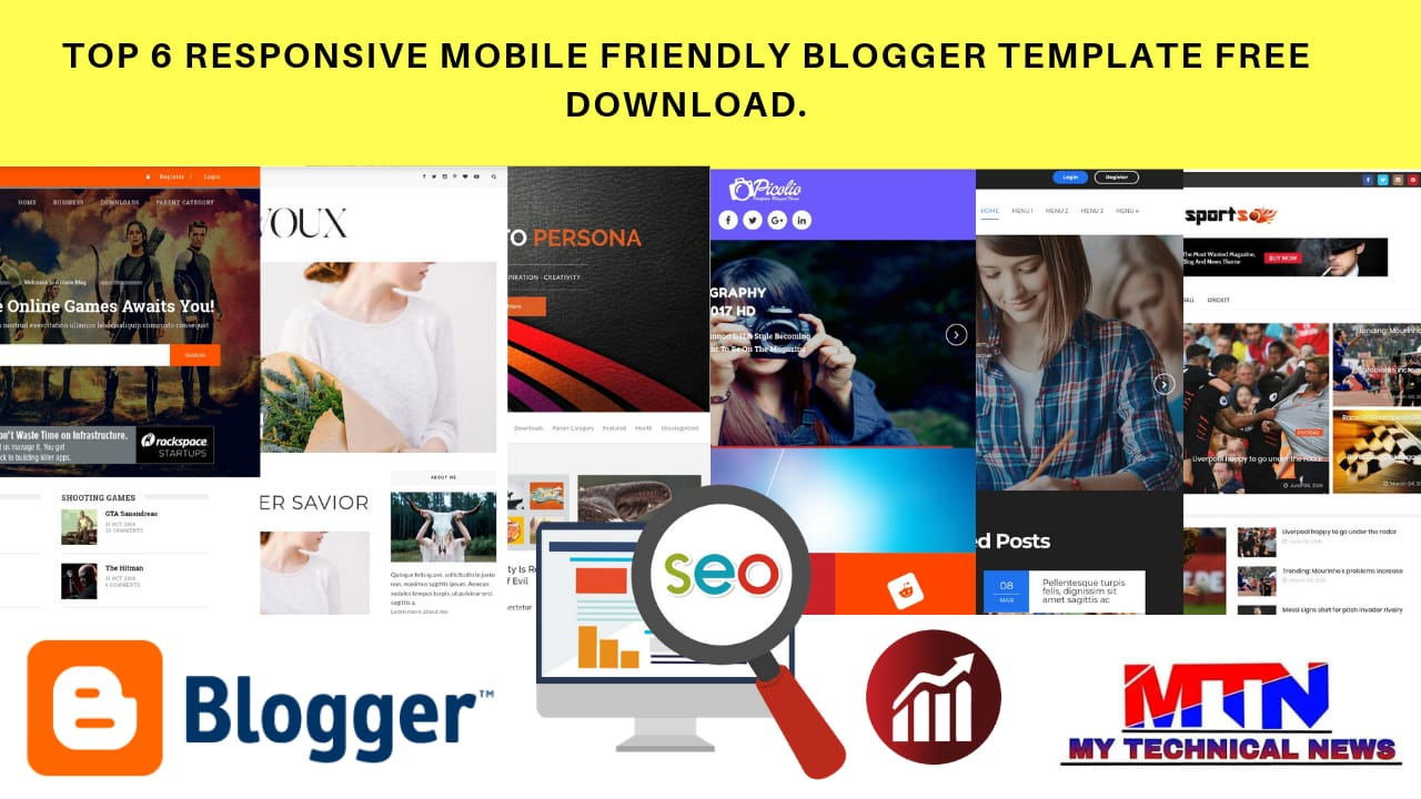 Top 6 Responsive Mobile Friendly Blogger Template Tree.
