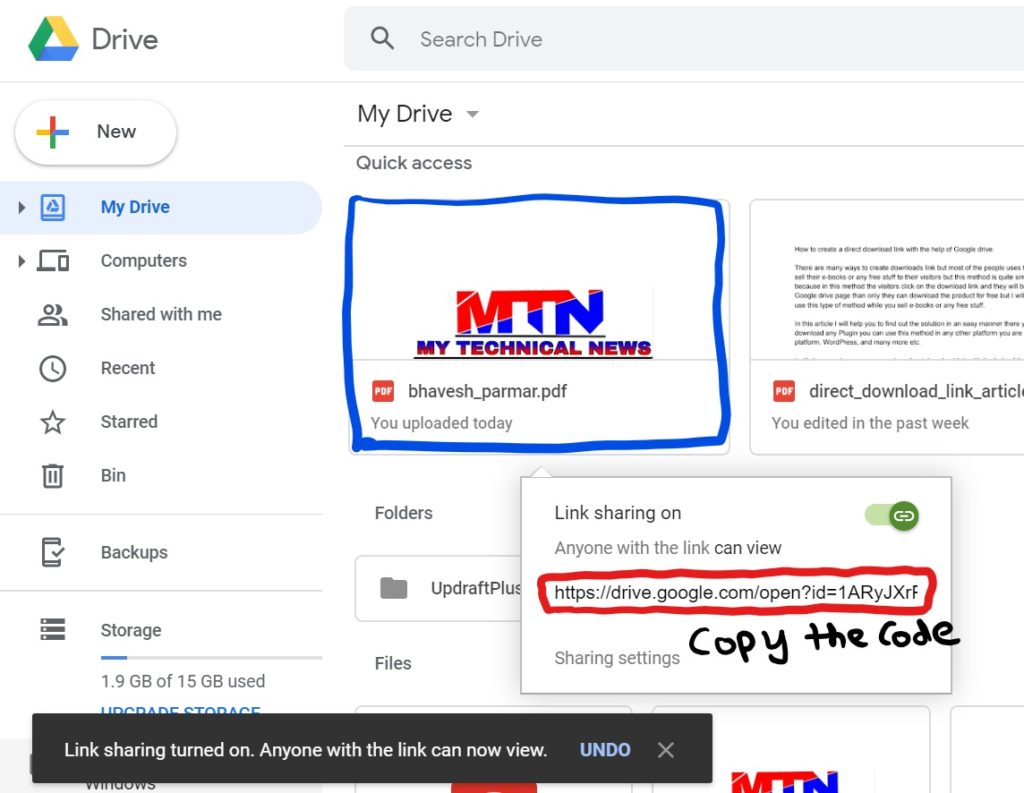 How to Create Direct Download Links for any Files on Google Drive.