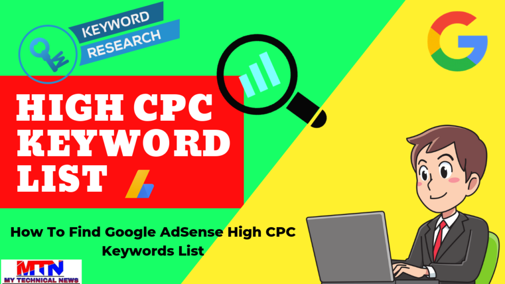 How To Find Google AdSense High CPC Keywords List
