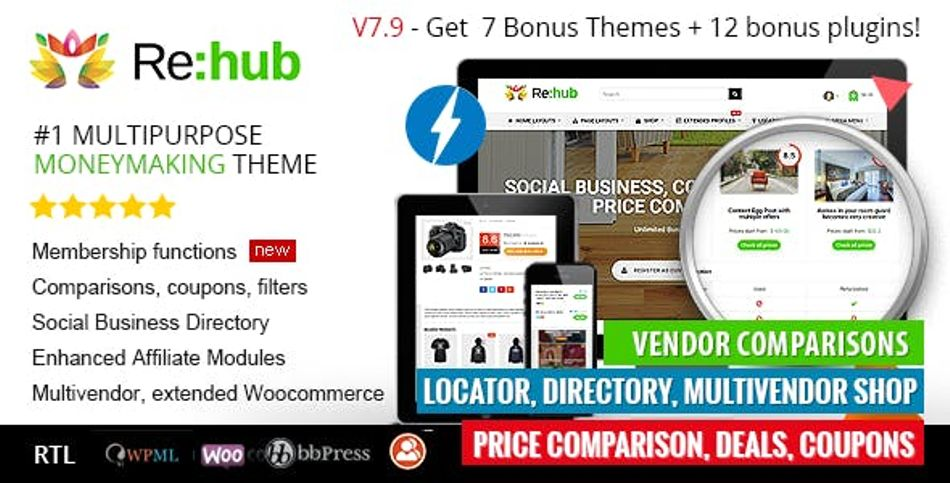 REHub – Hybrid wordpress template.
