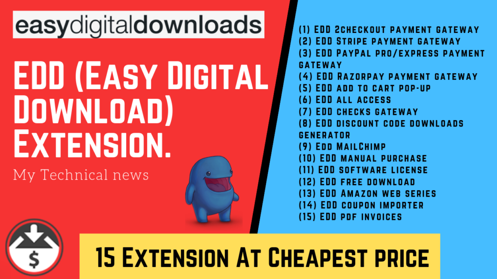 EDD (Easy Digital Download) Extension.
