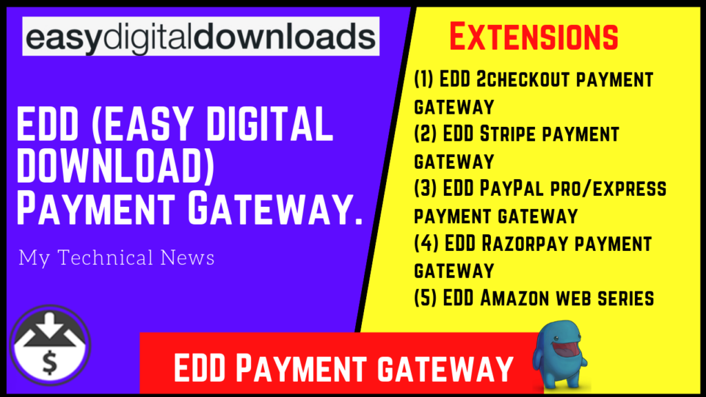 EDD (EASY DIGITAL DOWNLOAD) Payment Gateway.