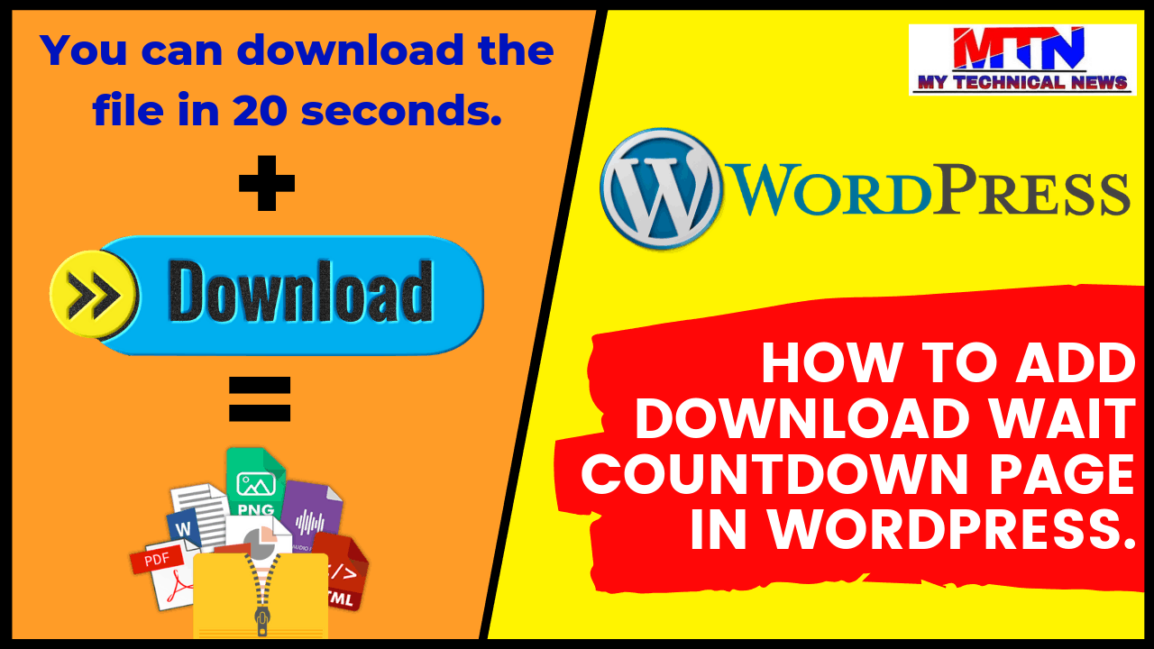 How To Add Download Wait Countdown Page in WordPress.