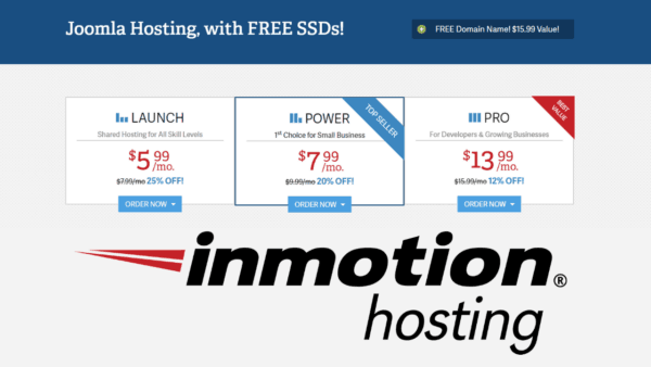 Inmotion Shared Hosting With free Domain Name