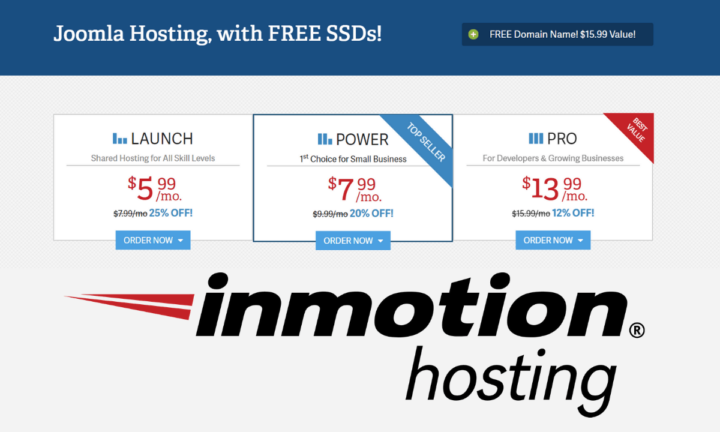 Inmotion Shared Hosting With free Domain Name.