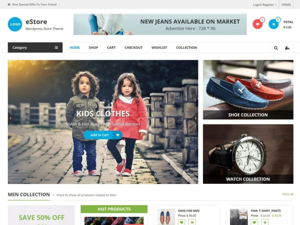 Top 10 Best And Free Woocommerce Theme For WordPress.