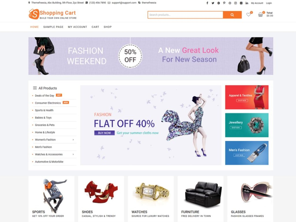 Top 10 Best And Free E-Commerce Themes For WordPress.