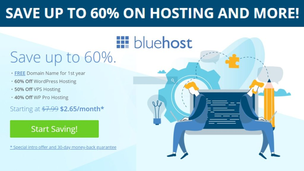 SAVE UP TO 60% ON HOSTING AND MORE! – BLUEHOST HOSTING