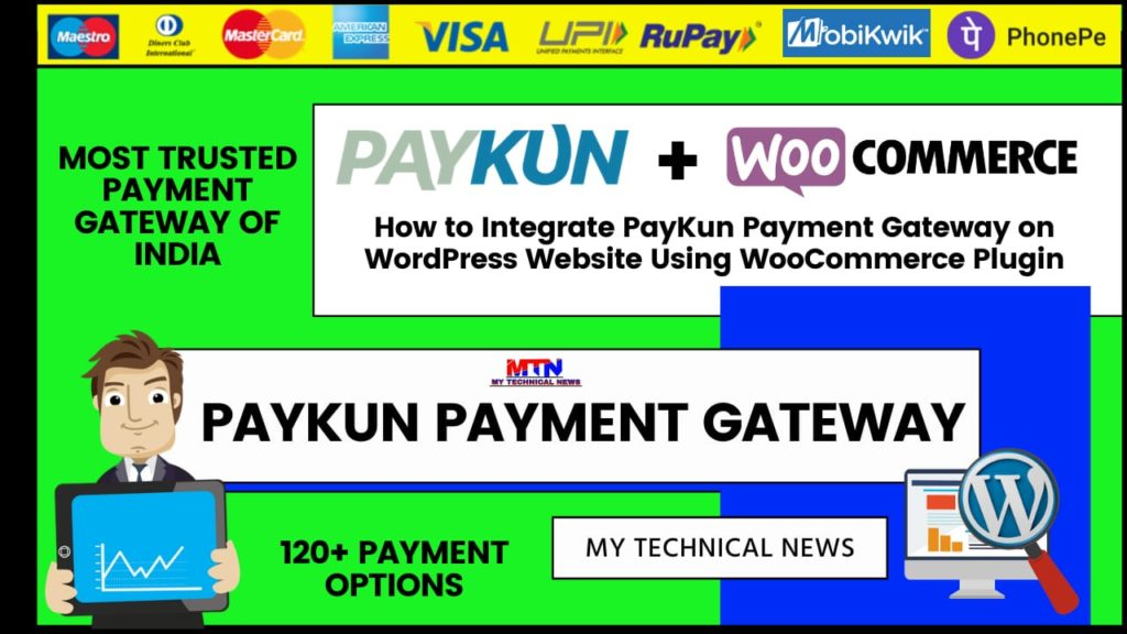 How to Integrate PayKun Payment Gateway on WordPress Website Using WooCommerce Plugin.