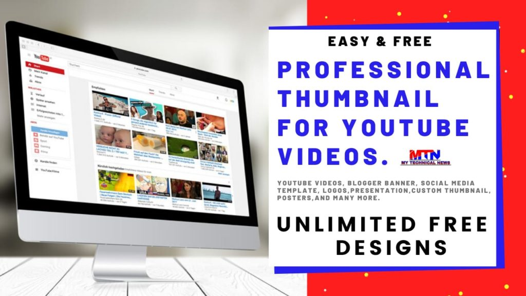How to Create Professional Thumbnail for YouTube Videos   Free & Easy.