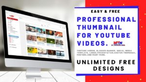 2020 Best Free Professional Thumbnail Maker For YouTube Videos.