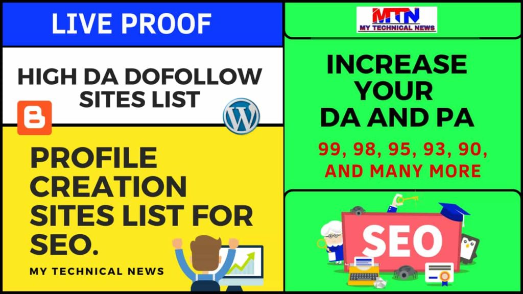 High DA Dofollow Profile Creation Sites List For SEO.