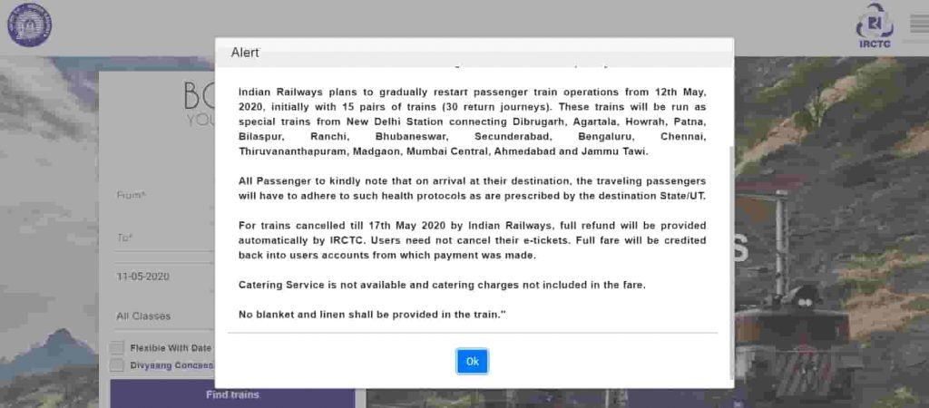 IRCTC Ticket Booking: List Of Trains Timing, New Rules, And Routes