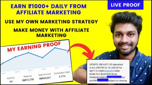 Earn ₹1000+ Daily From Affiliate Marketing   My Personal Marketing Strategy.