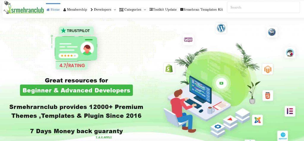 SrmehranClub: The Best WordPress GPL Club for Premium themes & Plugins