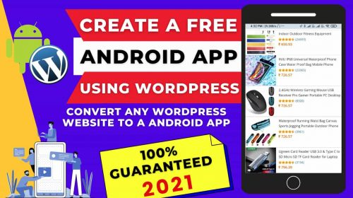 Convert Any WordPress Website To A Android App For Free | Create Mobile-Friendly App