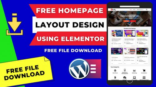 Download Free Website Homepage Layout Using Elementor (Created By Bhavesh Parmar)