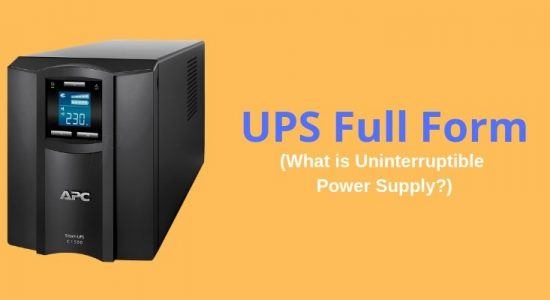 What is the full form of UPS